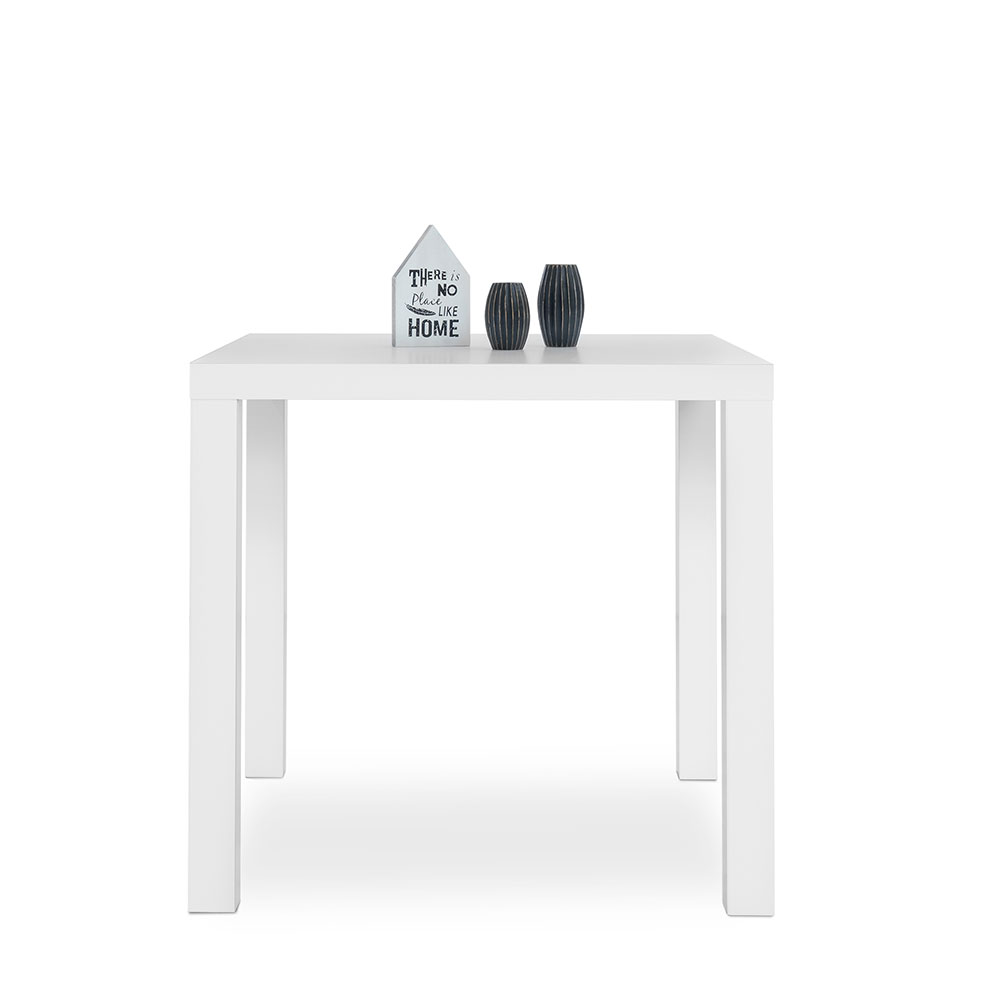 Jídelní stůl Priscilla, 80 cm, bílá lesk