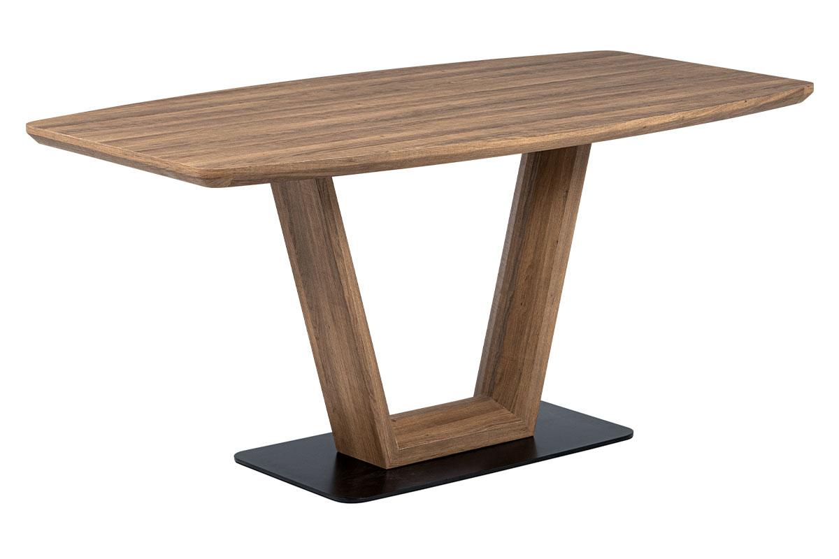 Jídelní stůl Reno, 160 cm, černá / hnědá