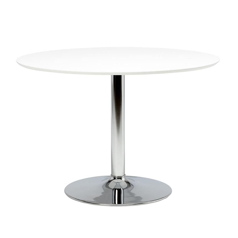 Jídelní stůl Ronny, 110 cm, bílá/chrom