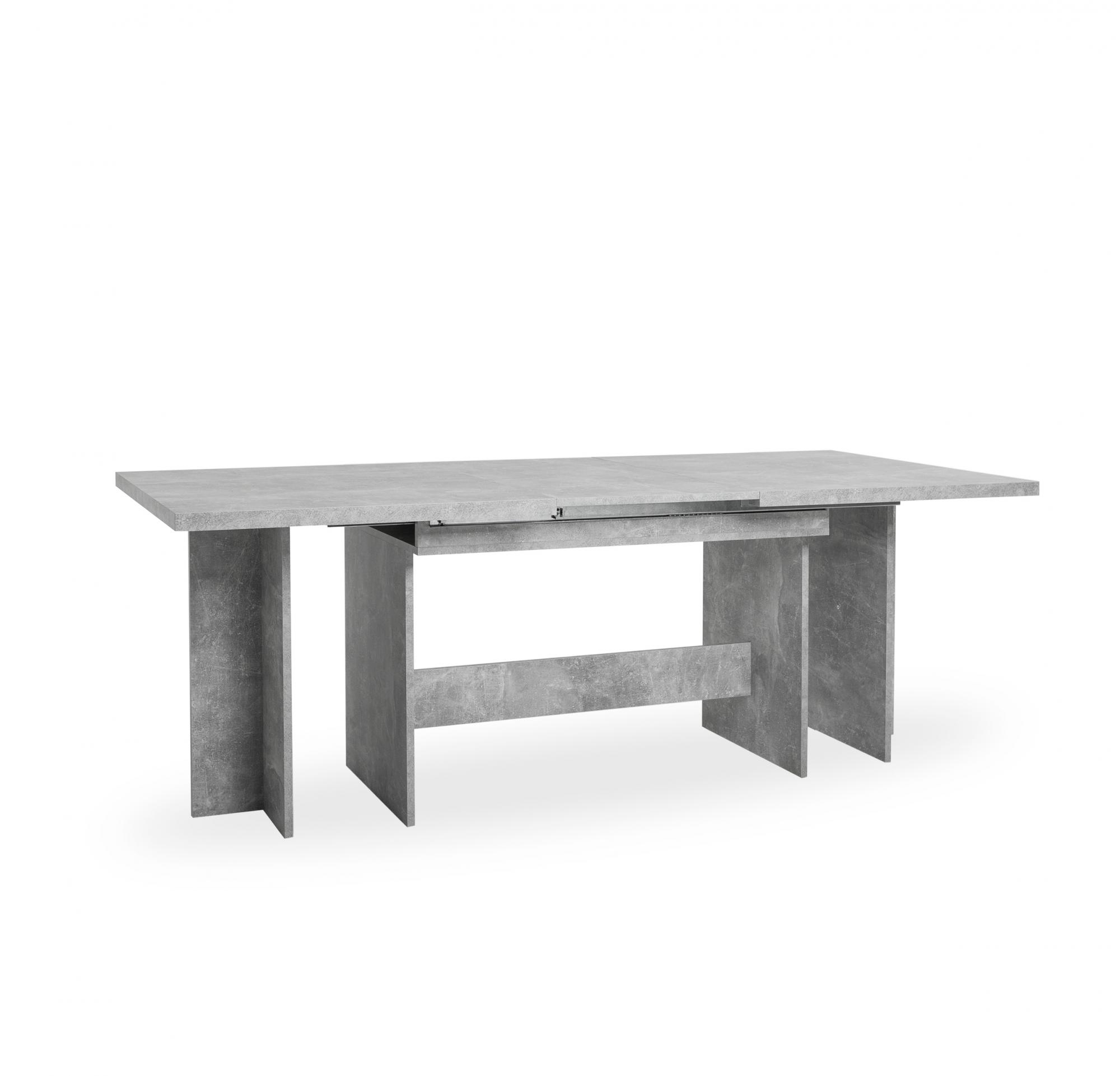 Jídelní stůl rozkládací Ancora, 310 cm, beton