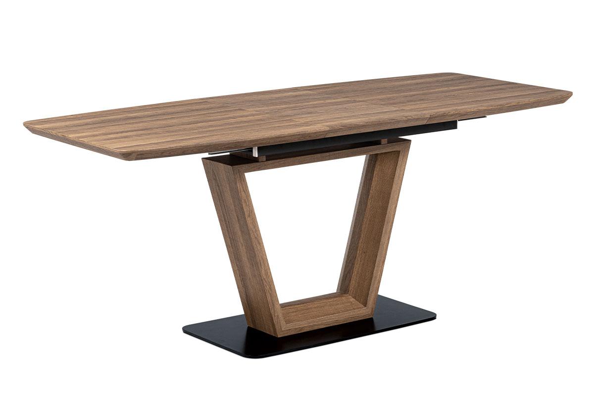 Jídelní stůl rozkládací Gilbert, 180 cm, černá/hnědá