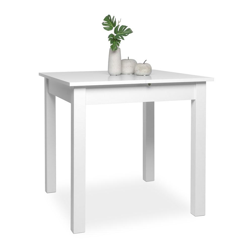 Jídelní stůl rozkládací Kronborg, 120 cm, bílá