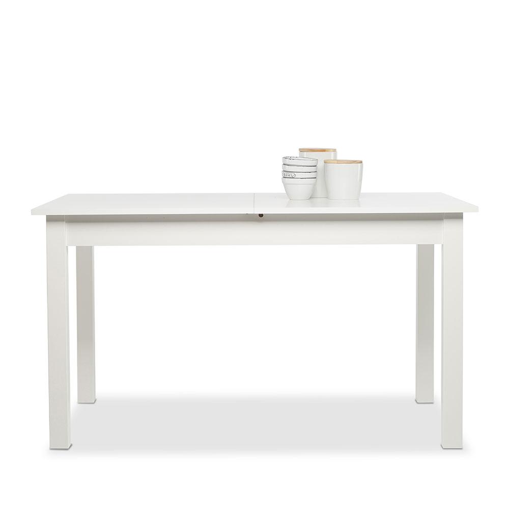 Jídelní stůl rozkládací Kronborg, 160 cm, bílá
