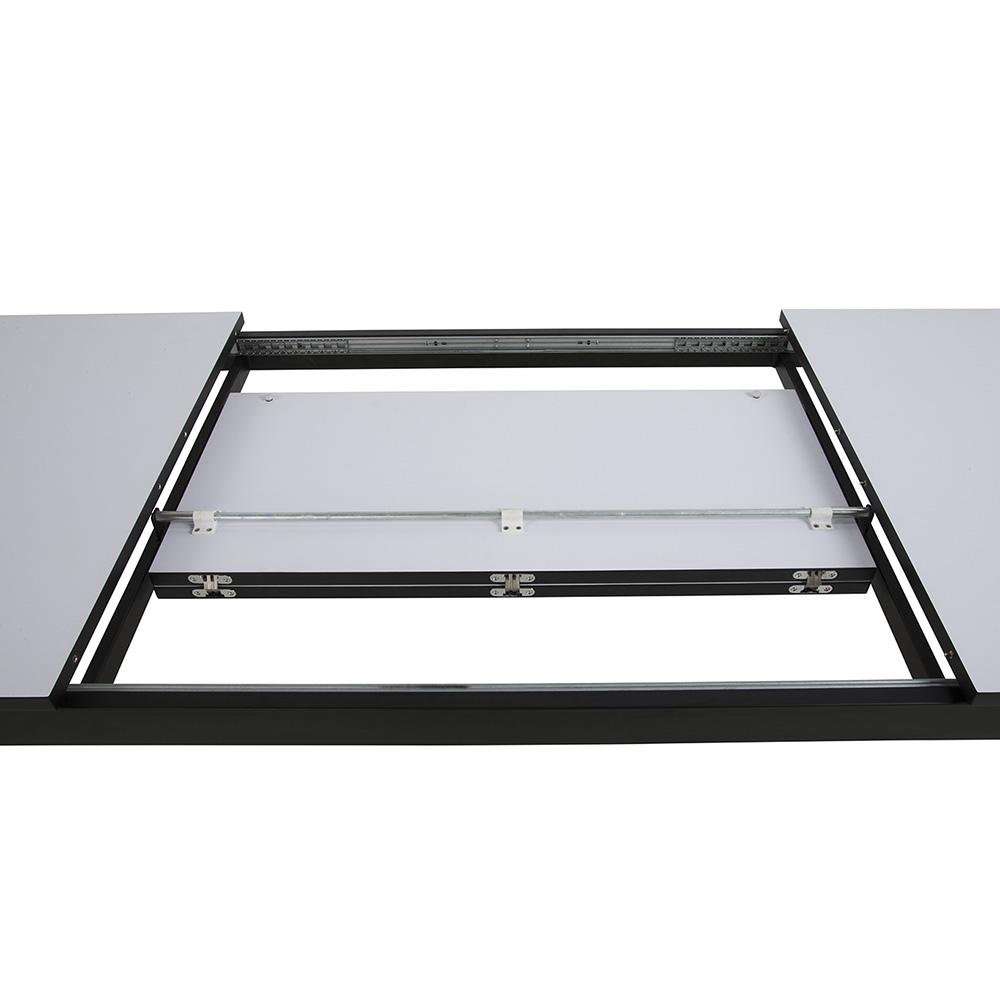 Jídelní stůl rozkládací Solna, 315 cm, bílá/černá