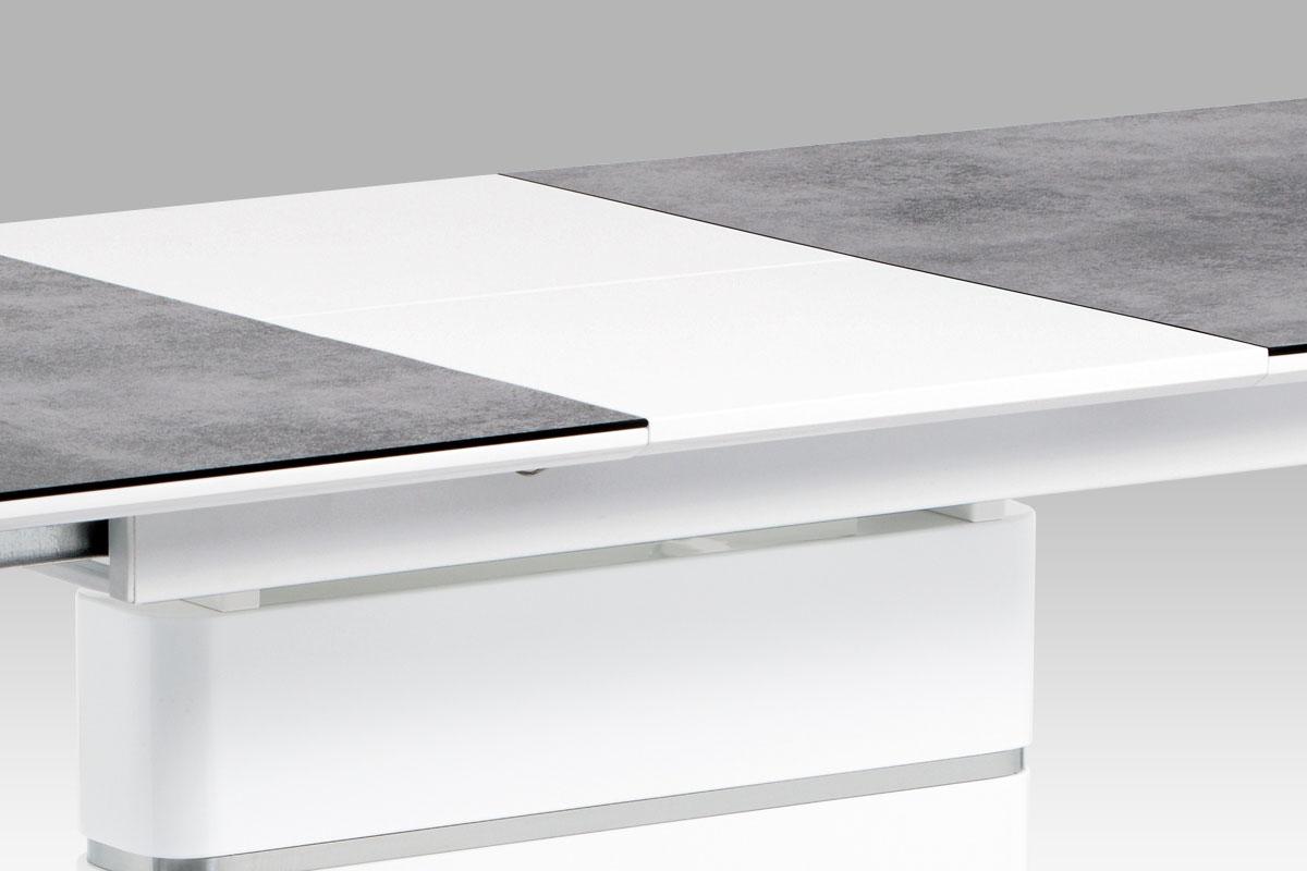 Jídelní stůl rozkládací Tampa, 180 cm, šedá / bílá