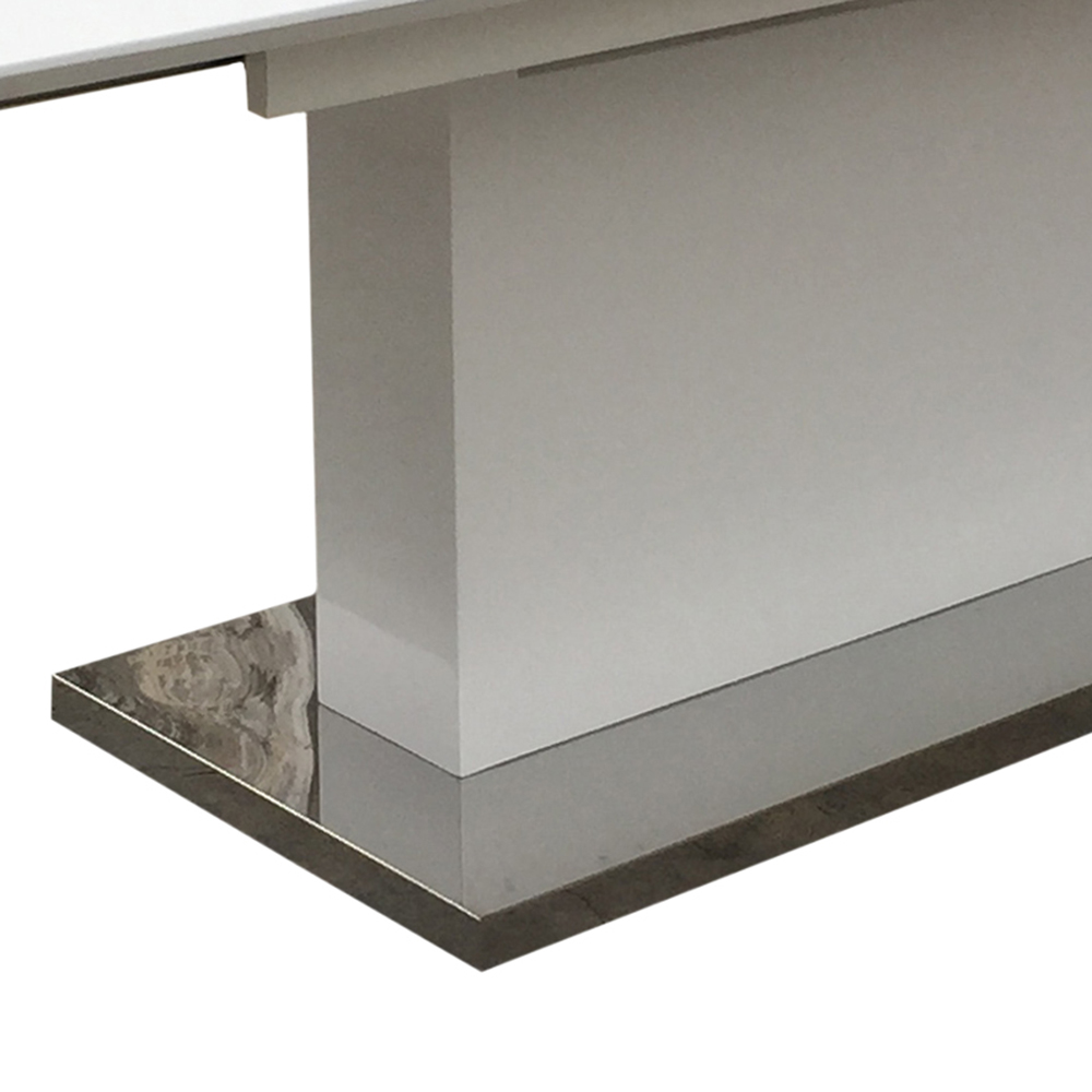 Jídelní stůl rozkládací Thorax, 220 cm, bílá