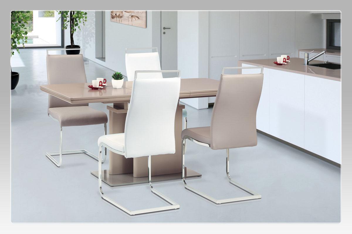 Jídelní stůl rozkládací Wichitta, 120 cm, lanýžová