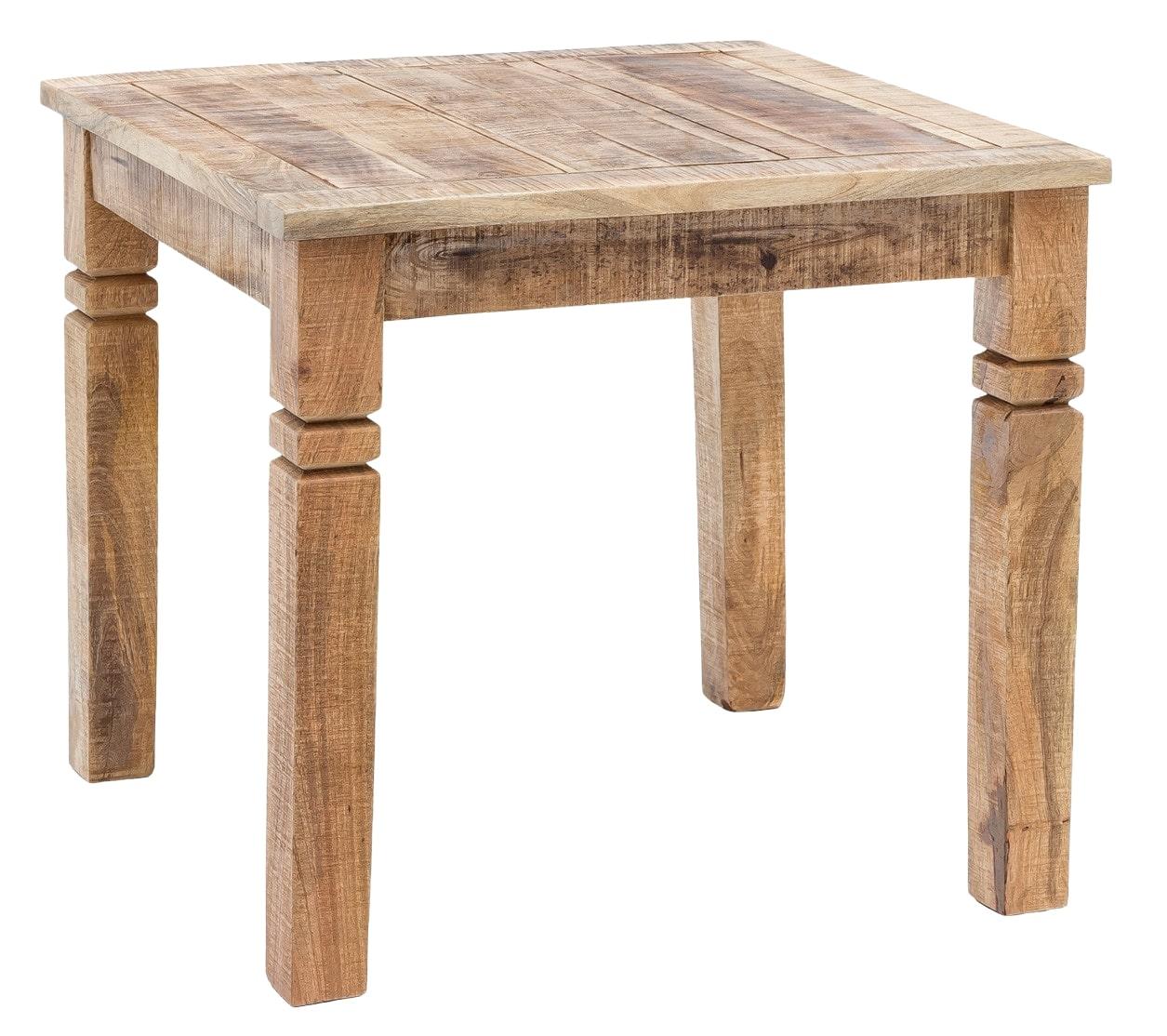 Jídelní stůl Rustica, 80 cm, mangové dřevo
