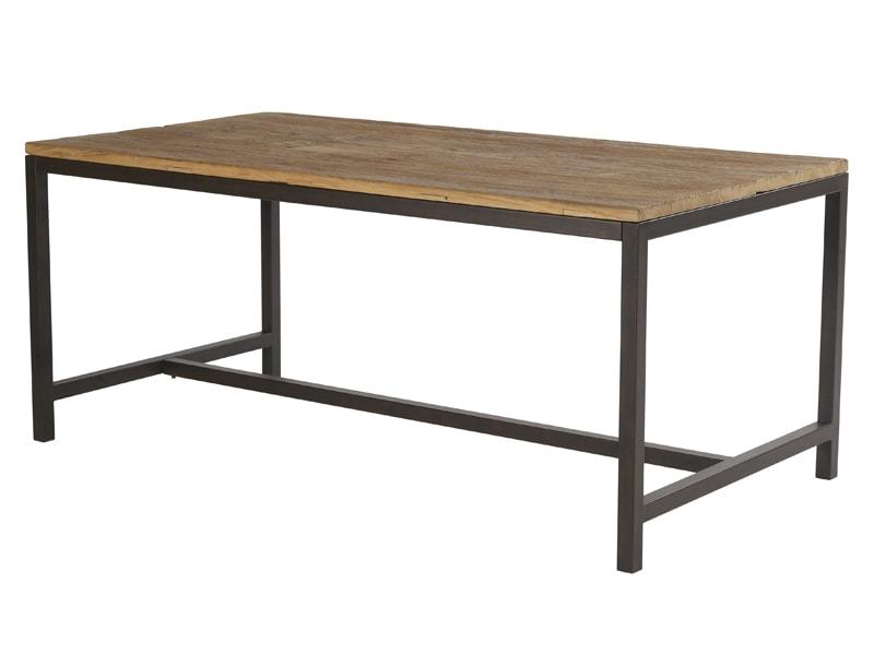 Jídelní stůl s dřevěnou deskou Harvest, 180 cm