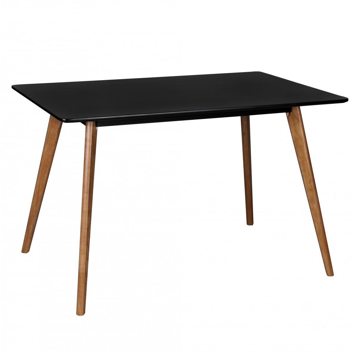 Jídelní stůl Scanio, 120 cm, černá/dub