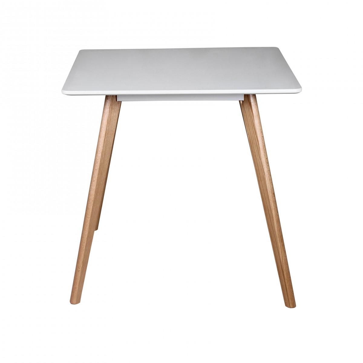 Jídelní stůl Scanio, 80 cm, bílá/dub