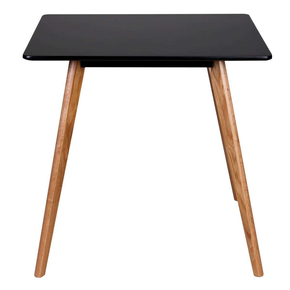 Jídelní stůl Scanio, 80 cm, černá/dub
