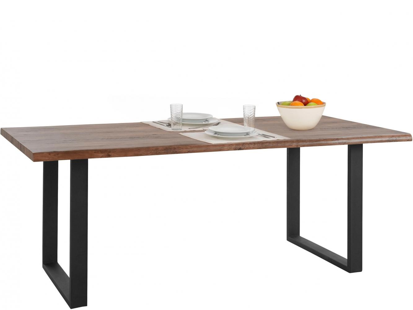 Jídelní stůl Sinc, 200 cm, hnědá / černá