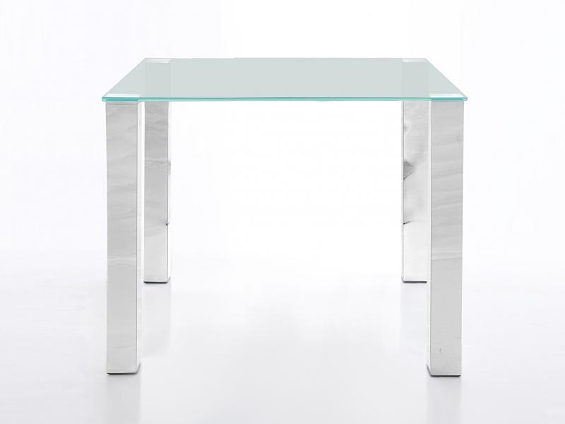 Stůl se skleněnou deskou Canton 90 cm, čiré sklo