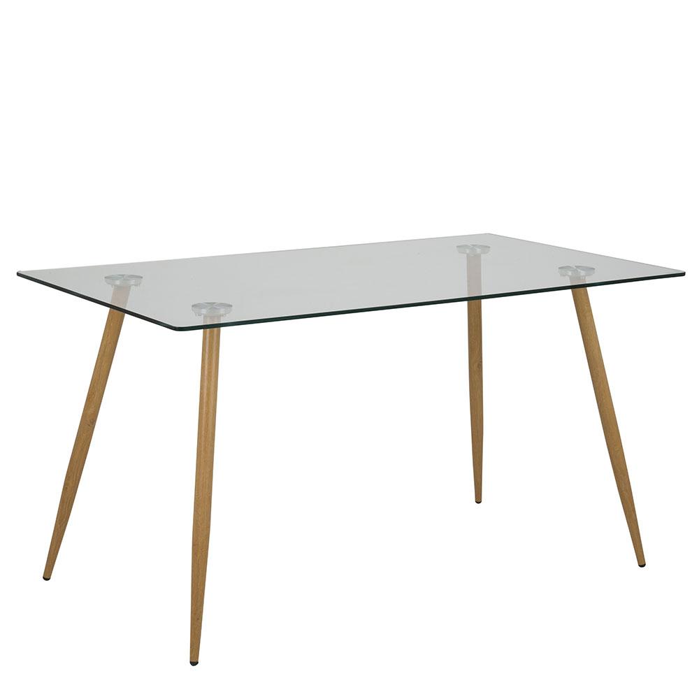Jídelní stůl skleněný Wanda, 140 cm