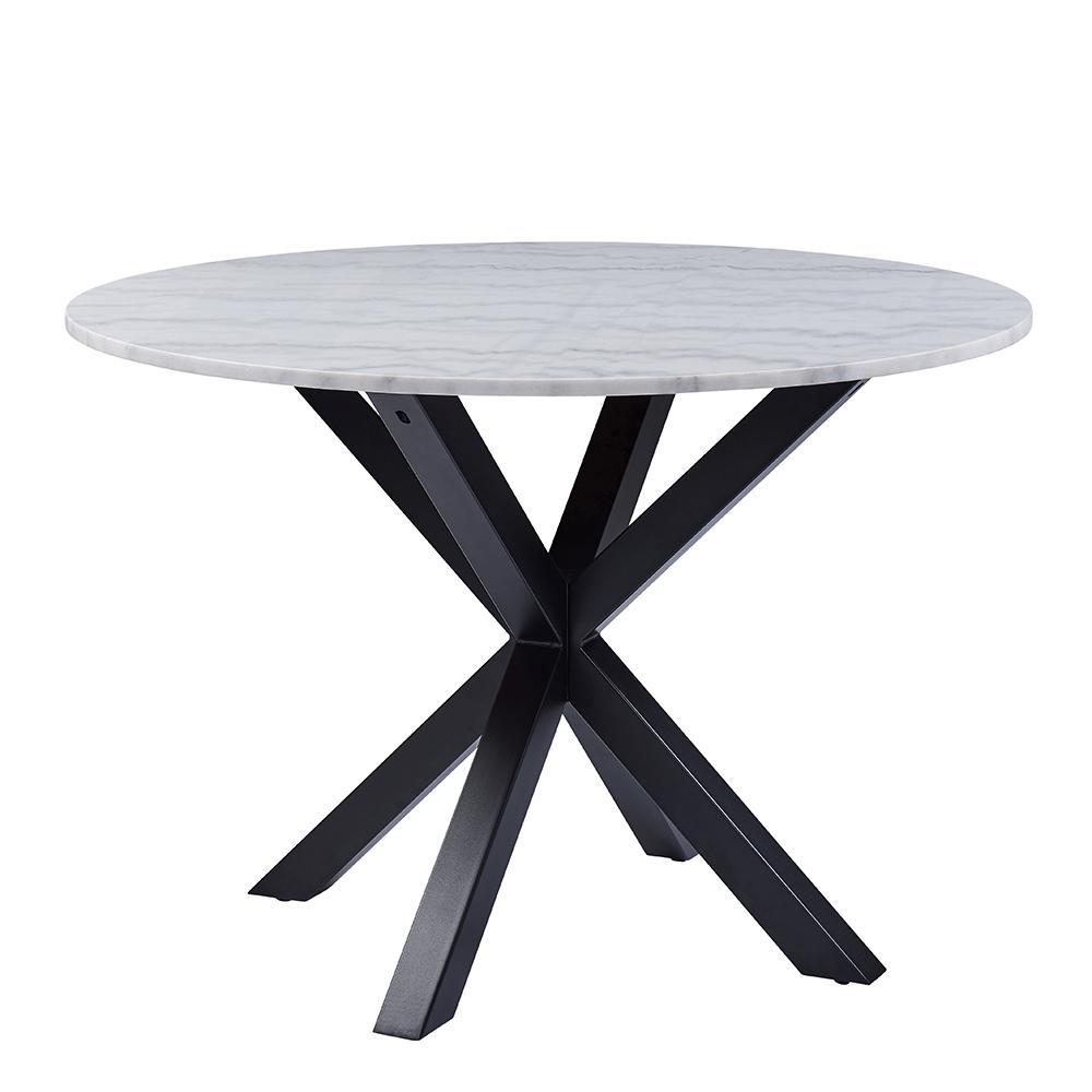 Jídelní stůl Skyline, 110 cm, mramor/černá