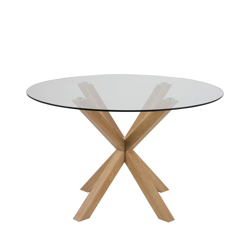 Jídelní stůl Skyline, 119 cm, dub/čirá
