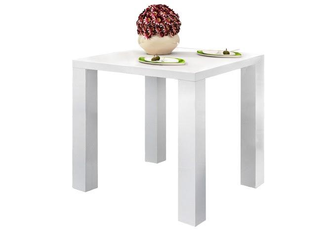 Jídelní stůl Snox, 80 cm, bílá