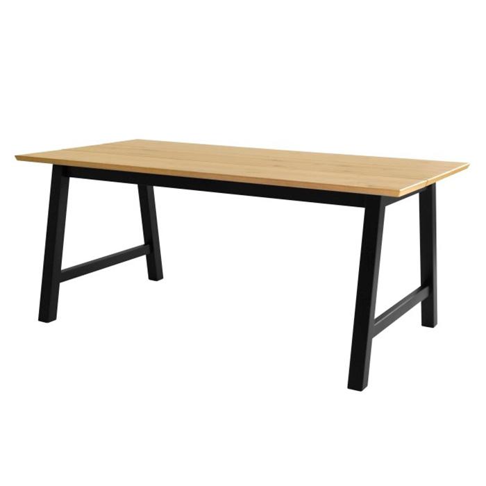 Jídelní stůl Spain, 180 cm, černá/dub