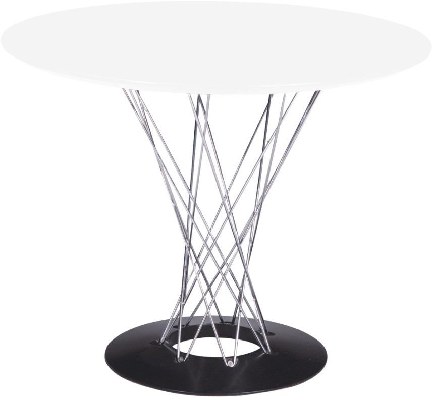 Jídelní stůl Spiral, 100 cm, bílá