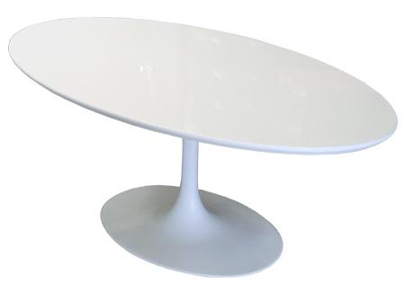 Jídelní stůl Tatiana oválný, 200 cm, bílá
