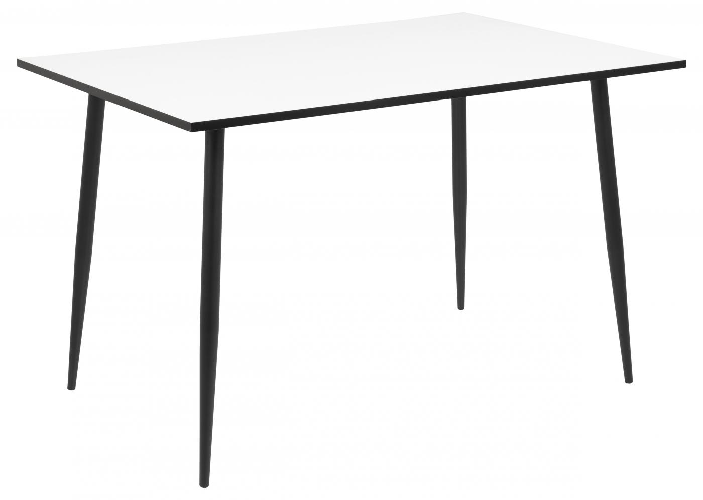 Jídelní stůl Wila, 120 cm, bílá / kov