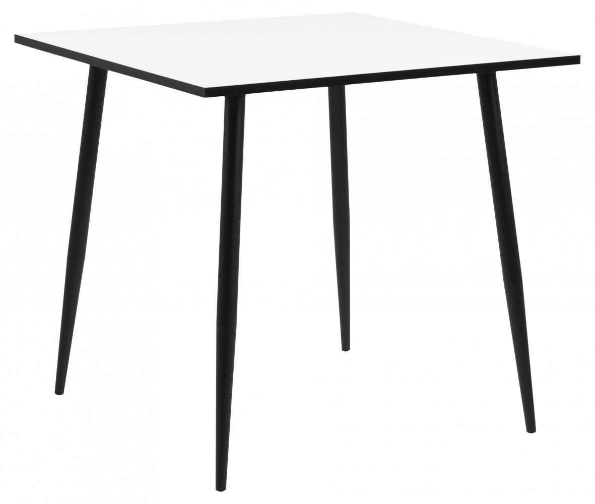 Jídelní stůl Wila, 80 cm, bílá / kov