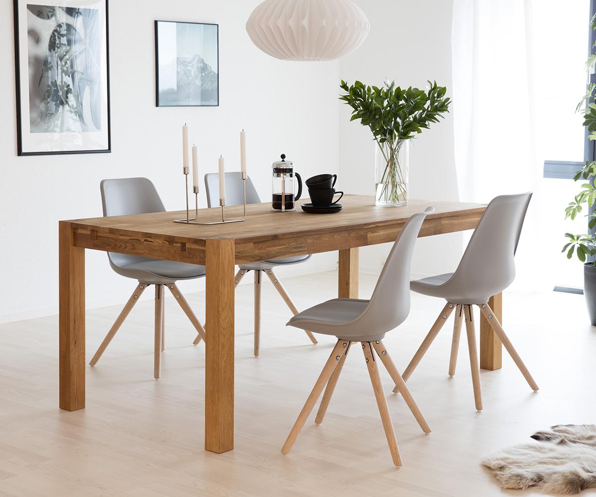 Jídelní stůl z masivu Boost, 160 cm, dub