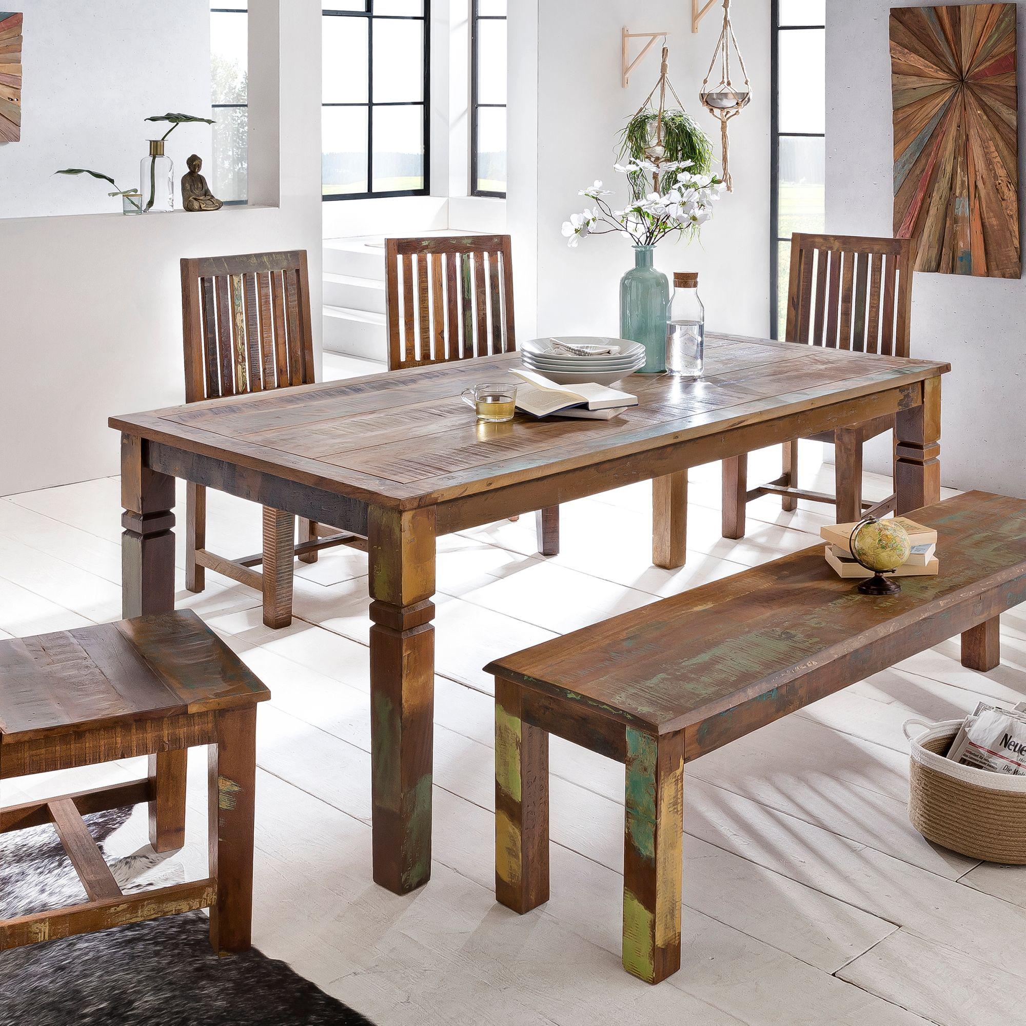 Jídelní stůl z recyklovaného dřeva Kalkutta, 120 cm, mango