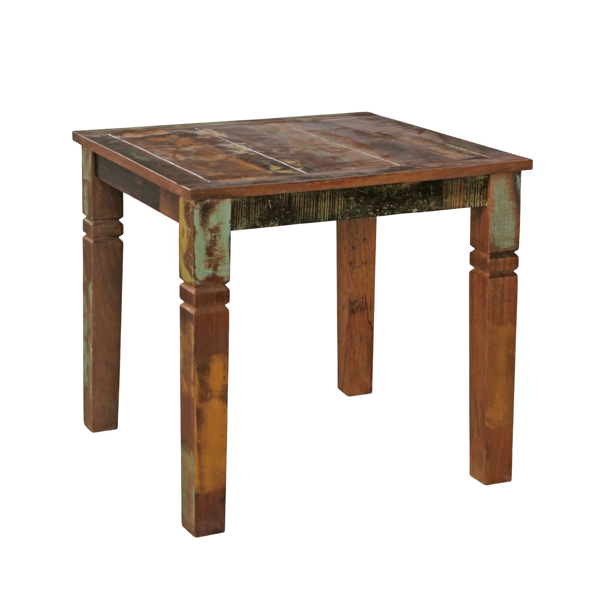 Jídelní stůl z recyklovaného dřeva Kalkutta, 80 cm, mango