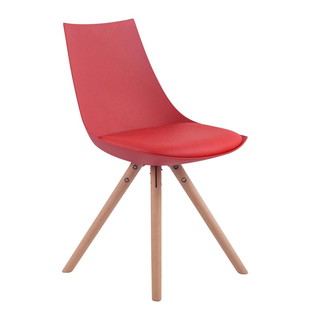 Jídelní židle Alba kůže, přírodní nohy