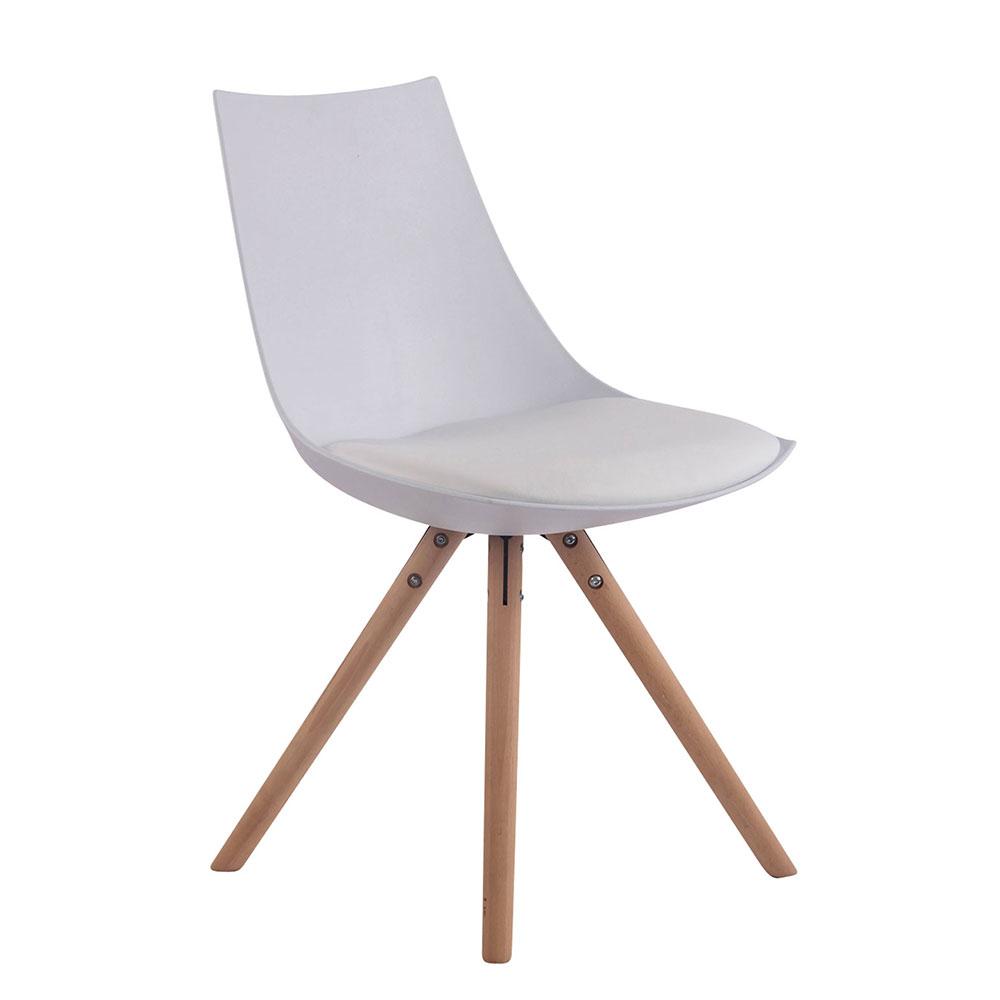 Jídelní židle Alba kůže, přírodní nohy žlutá
