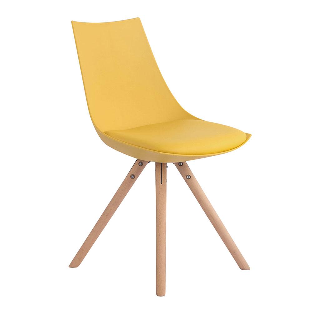 Jídelní židle Alba kůže, přírodní nohy bílá