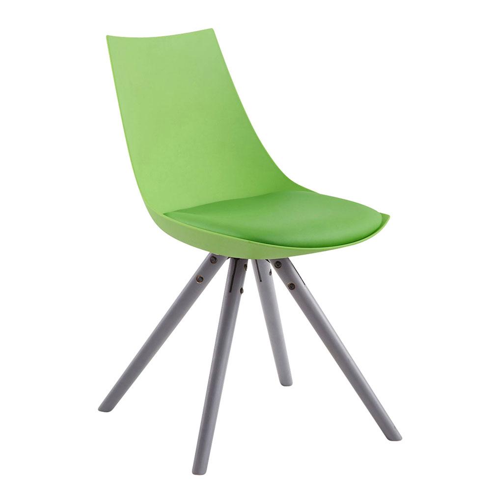 Jídelní židle Alba kůže, šedé nohy žlutá