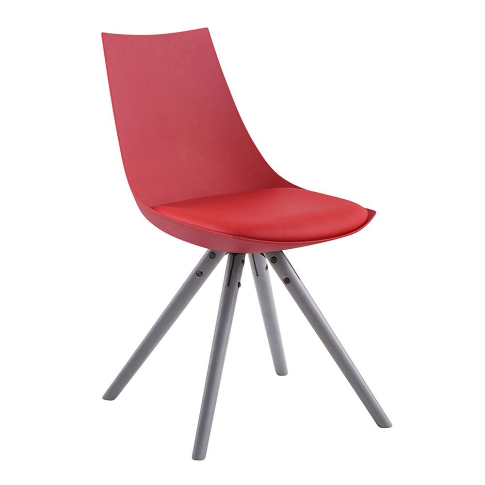 Jídelní židle Alba kůže, šedé nohy bílá