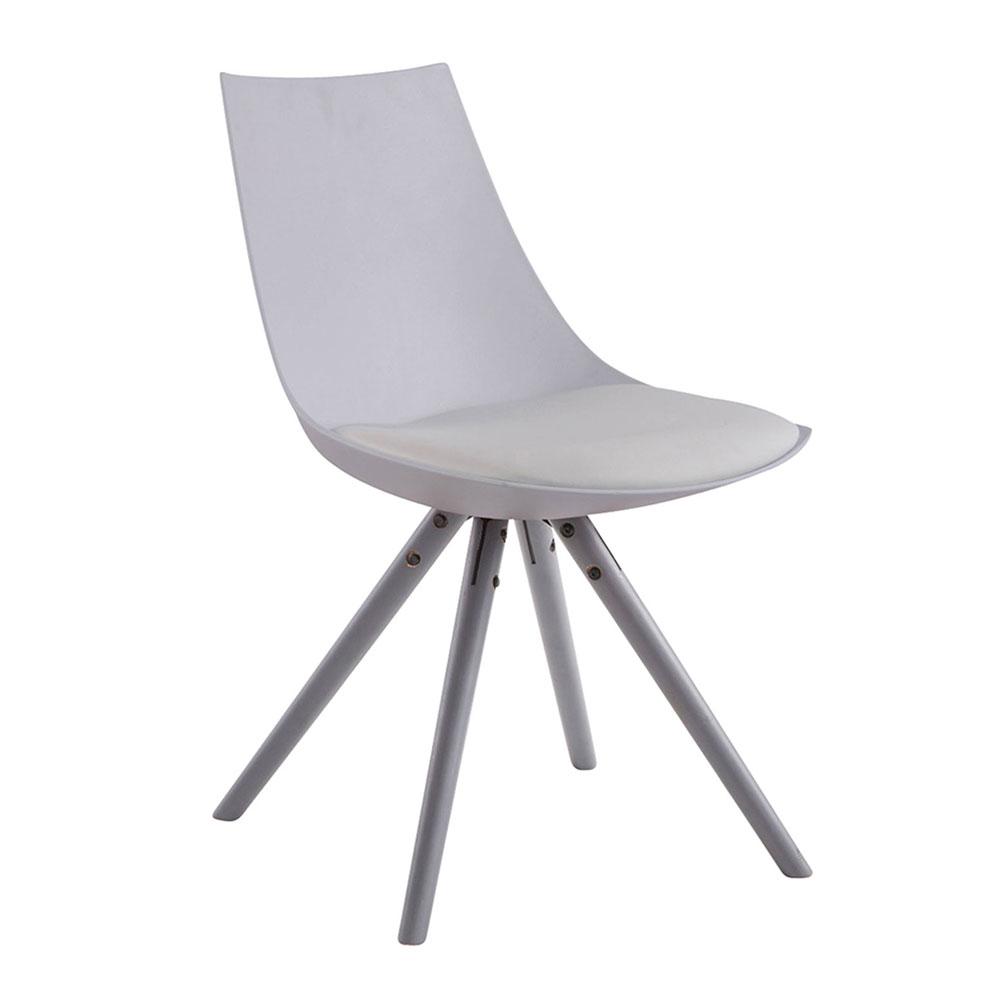 Jídelní židle Alba kůže, šedé nohy modrá