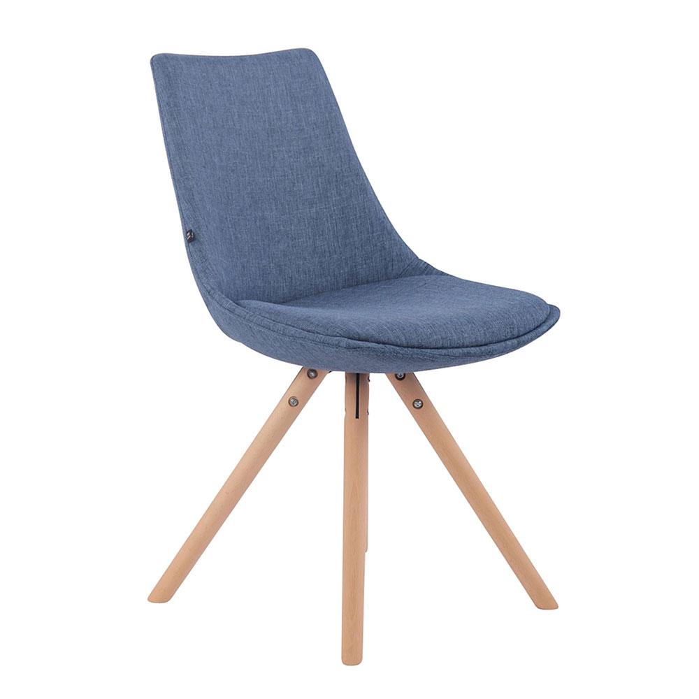 Jídelní židle Alba textil, přírodní nohy hnědá