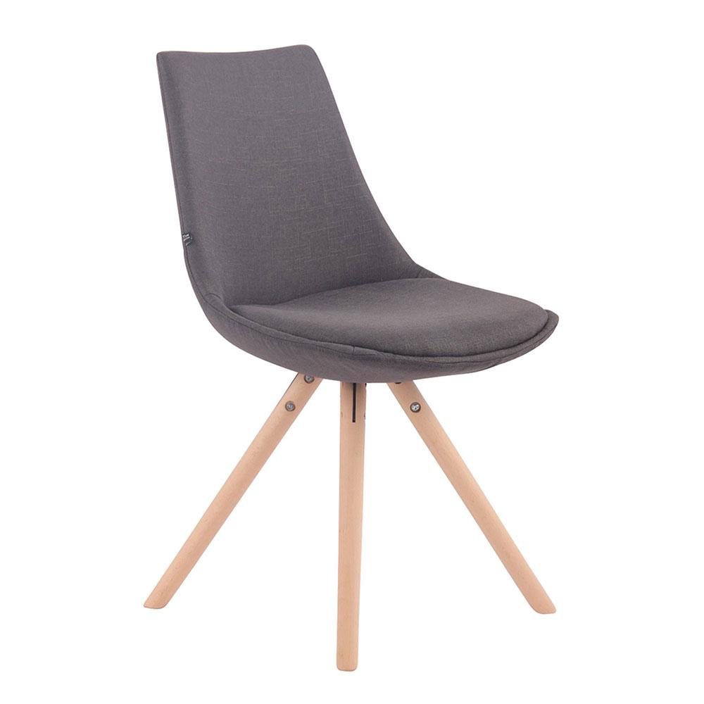 Jídelní židle Alba textil, přírodní nohy tmavě šedá