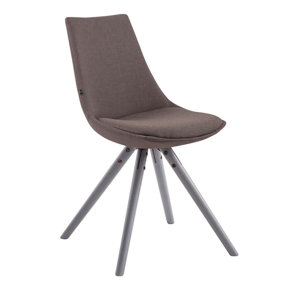 Jídelní židle Alba textil, šedé nohy tmavě šedá