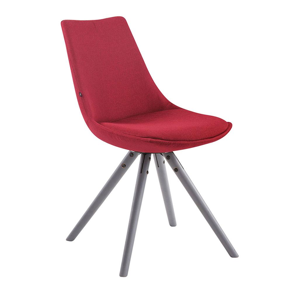 Jídelní židle Alba textil, šedé nohy červená