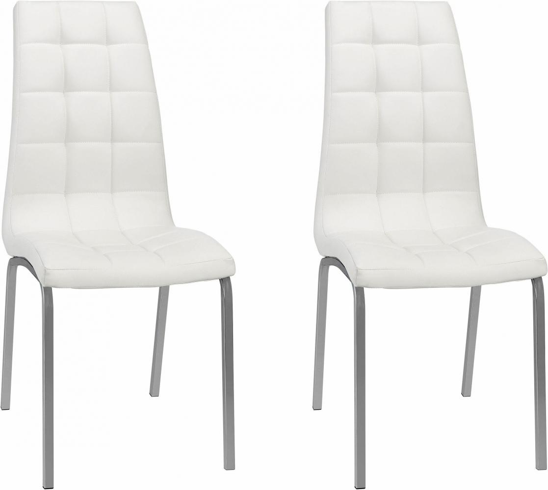 Jídelní židle Anina (SET 2 ks), bílá