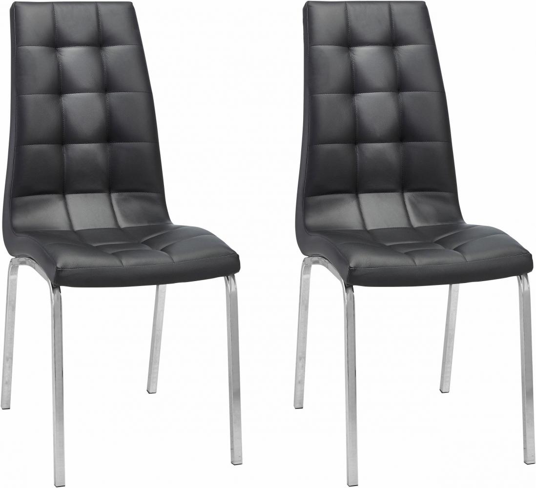 Jídelní židle Anina (SET 2 ks), černá
