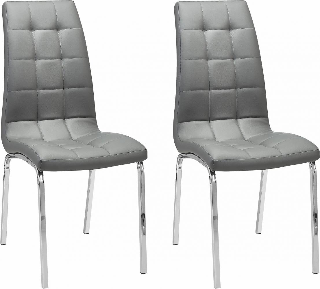 Jídelní židle Anina (SET 2 ks), šedá