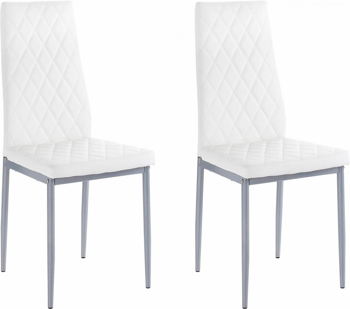 Jídelní židle Barat (SET 2 ks), bílá