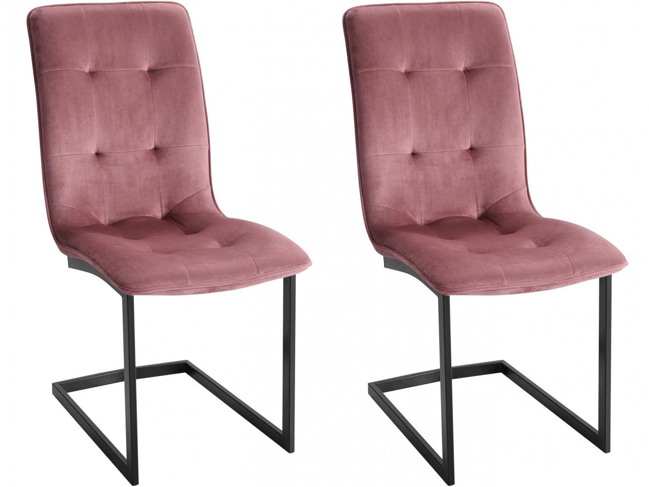 Jídelní židle Berry (SET 2 ks), růžová