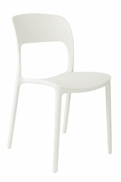 Jídelní židle Blod, bílá