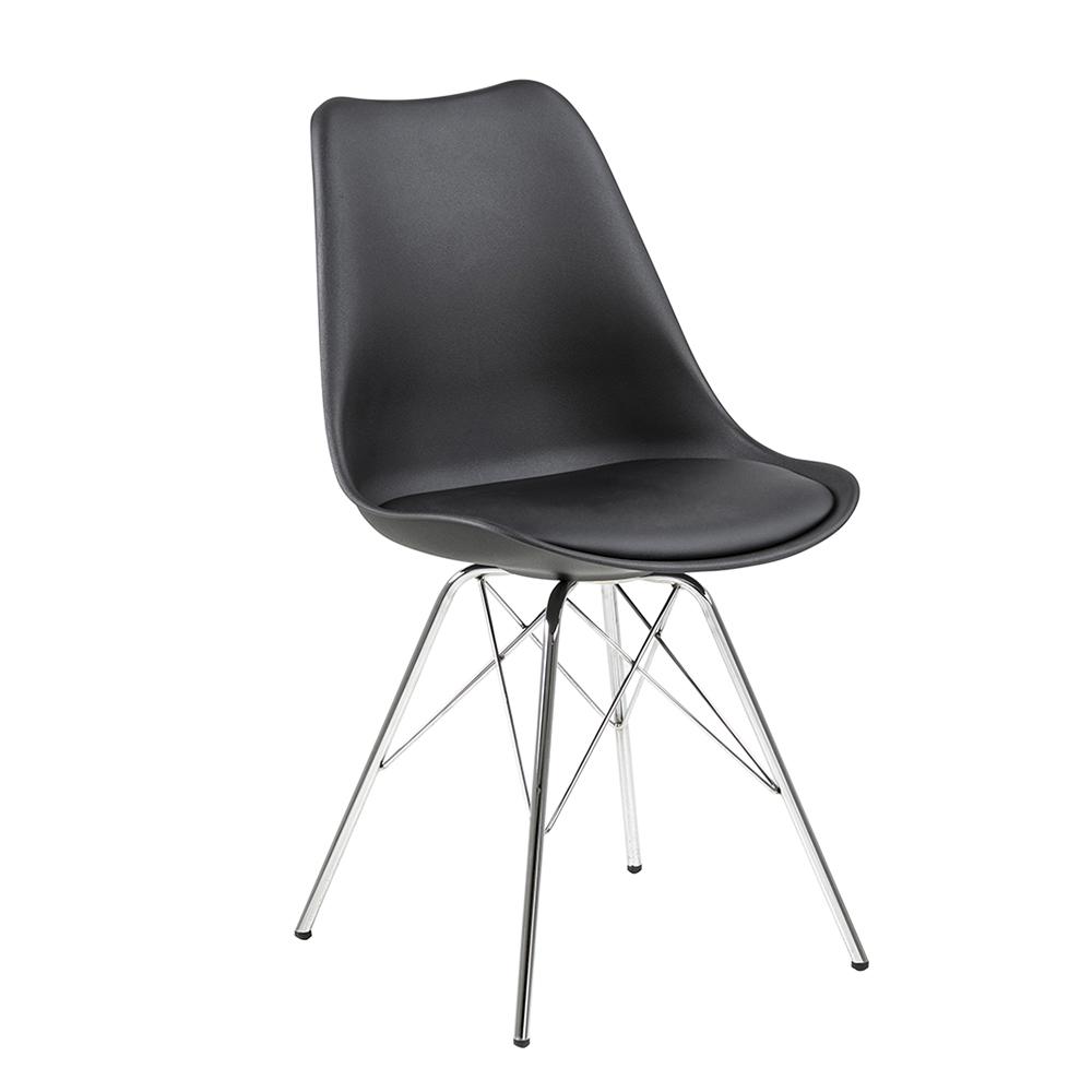 Jídelní židle Blume (SET 4 ks), černá