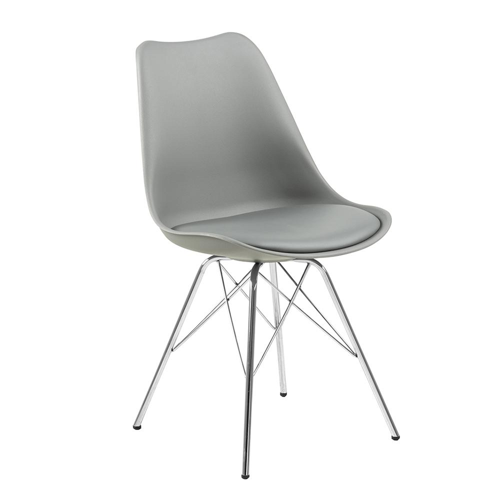 Jídelní židle Blume (SET 4 ks), šedá