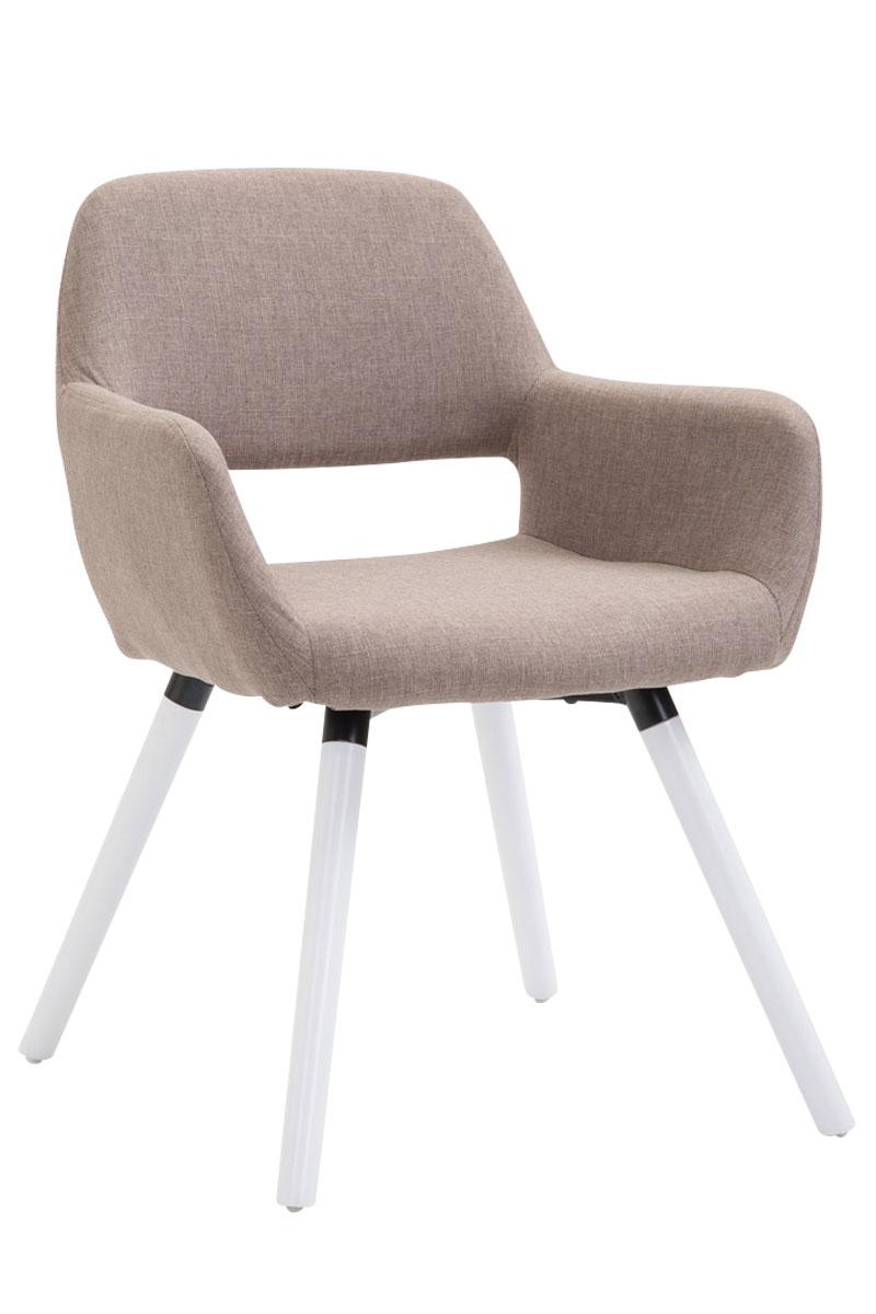 Jídelní židle Boba textil, bílé nohy