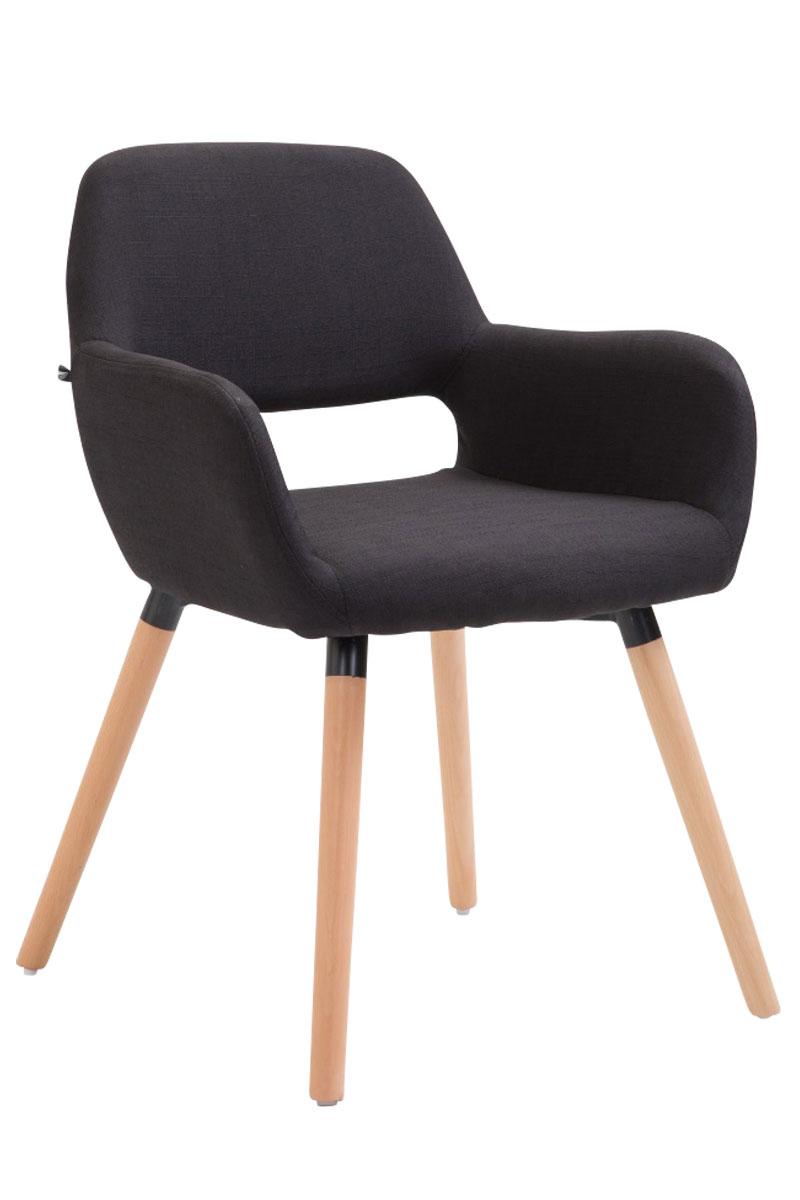 Jídelní židle Boba textil, přírodní nohy